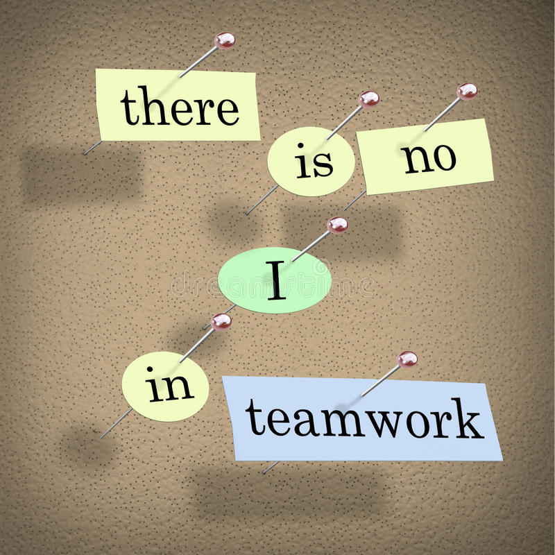 Download There Is No I In Teamwork - Bulletin Board Stock Illustration - Image: 18809771
