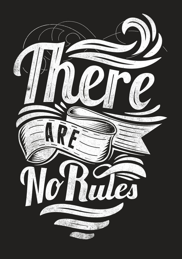 Download There are no rules stock vector. Image of element, funny - 31519465