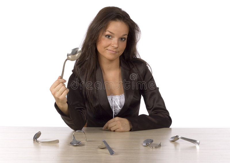 There is no spoon royalty free stock photography