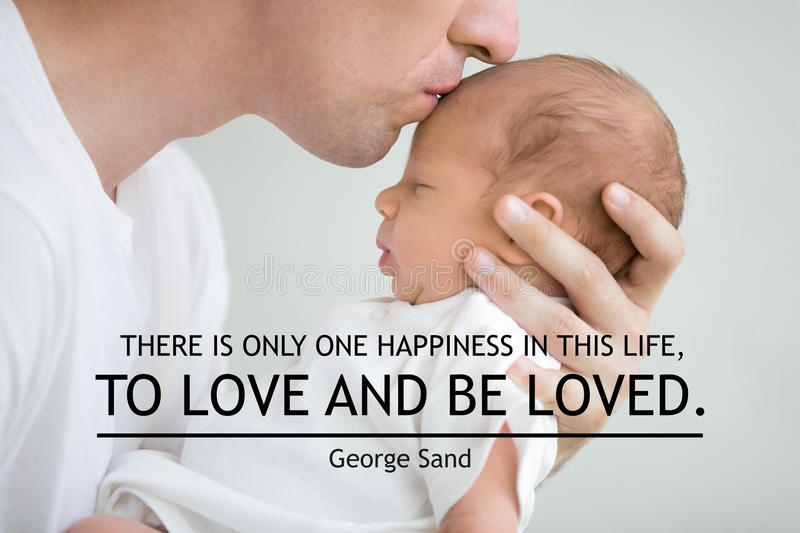 There is only one happiness in this life, to love and be loved royalty free stock image
