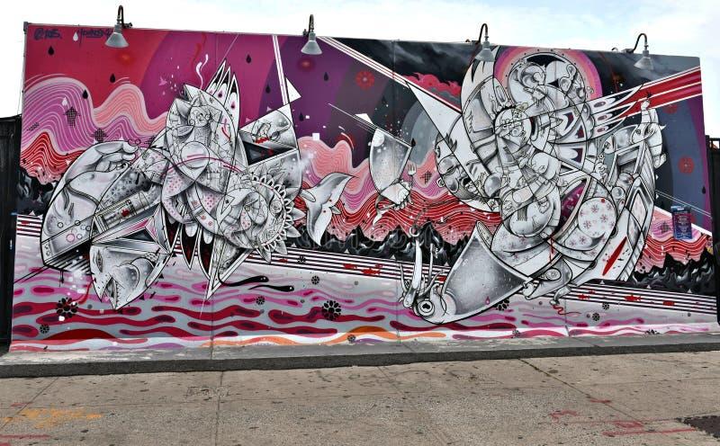 Graffiti art getaway park coney island new york stock image