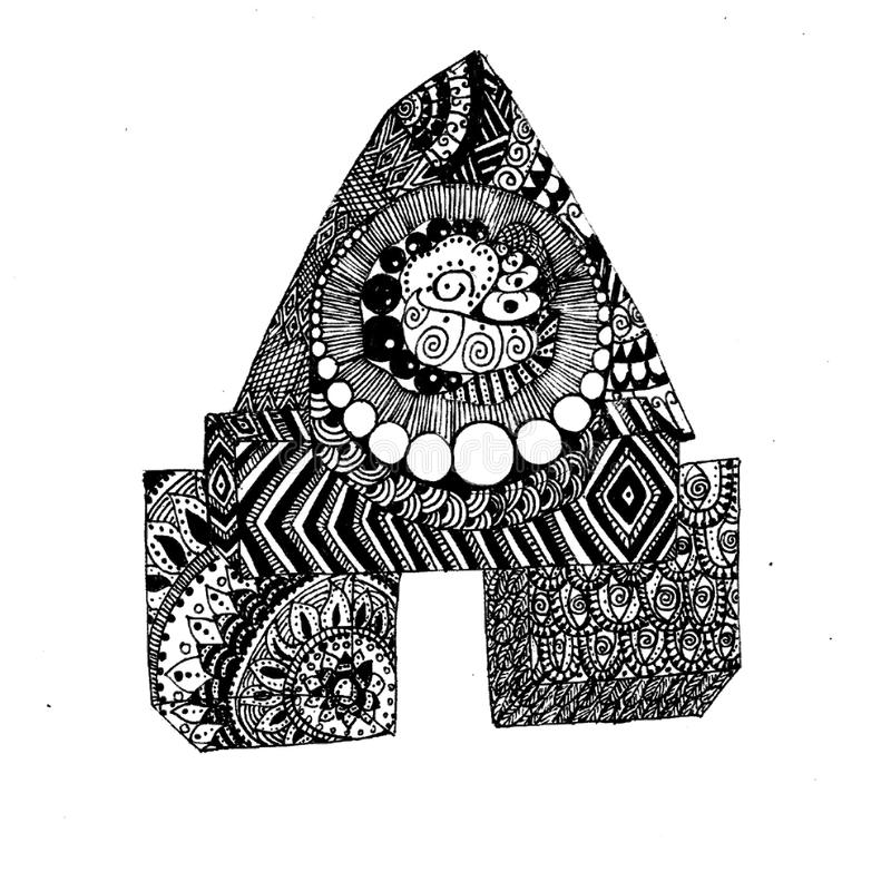 Absract zentangle picture for fun. There is a picture of zentangle art. Nice picture in jpg format vector illustration