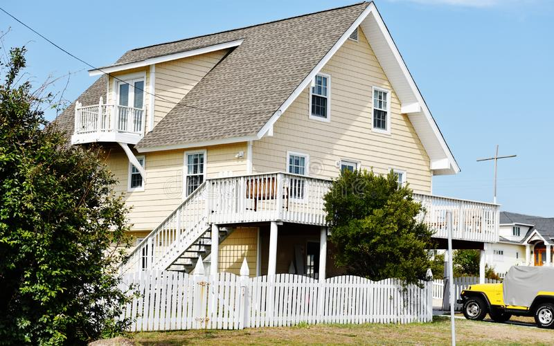 Rear view oceanfront home eastern shore virginia royalty free stock images