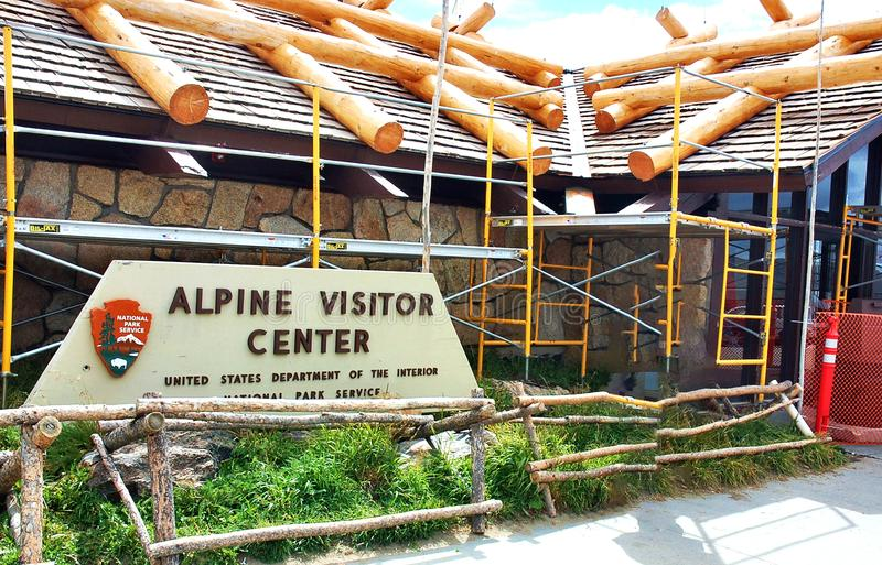 Alpine visitor center colorado usa rocky mountains. There is renovation of Alpine Visitor center in Colorado state of USA , Rocky Mountains National Park , which royalty free stock photo