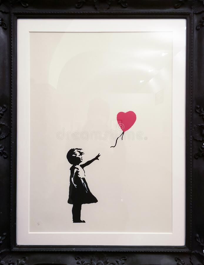 Free There`s Always Hope, Banksy Royalty Free Stock Photo - 170344545