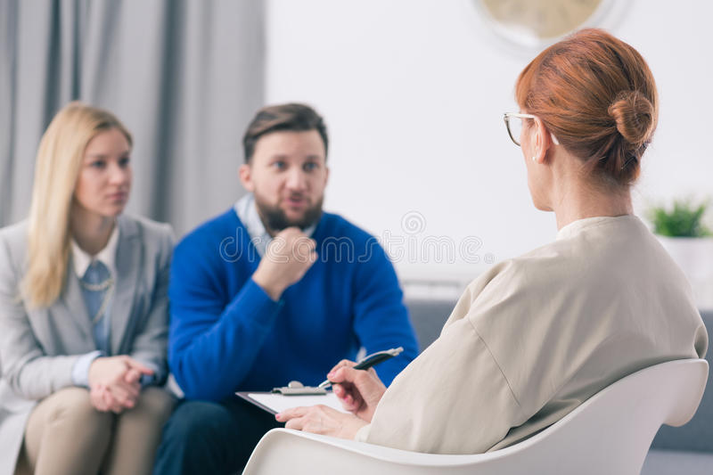 There's always a chance to resolve marital problems royalty free stock photo