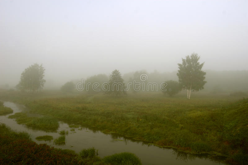 There is a thick mist stock image