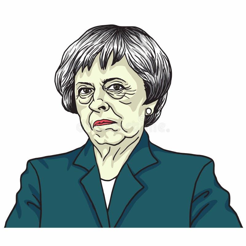 Theresa May Il Primo Ministro del Regno Unito Theresa May Londra, Regno Unito 5 luglio 2017 illustrazione di stock