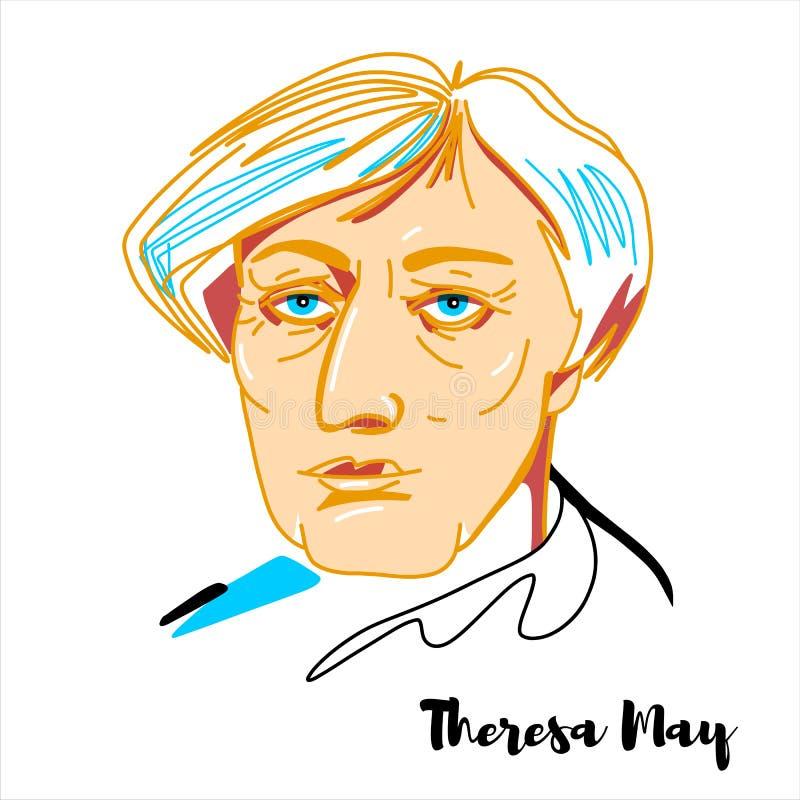 Theresa May Portrait libre illustration