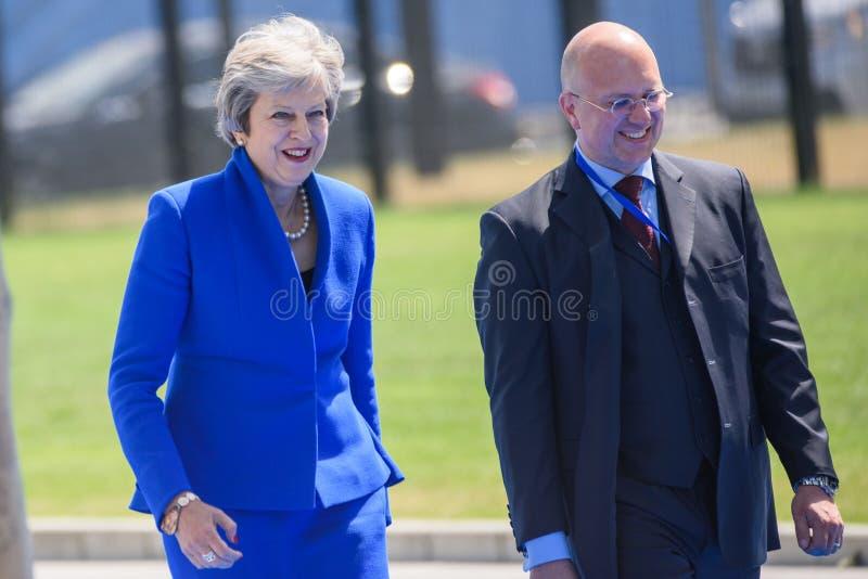 Theresa May, primer ministro de Reino Unido fotografía de archivo libre de regalías