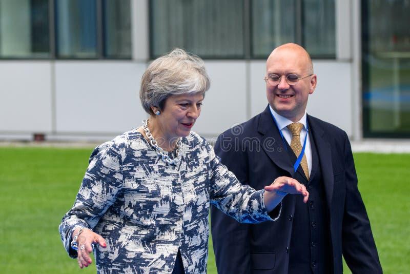 Theresa May, primer ministro de Reino Unido fotos de archivo libres de regalías