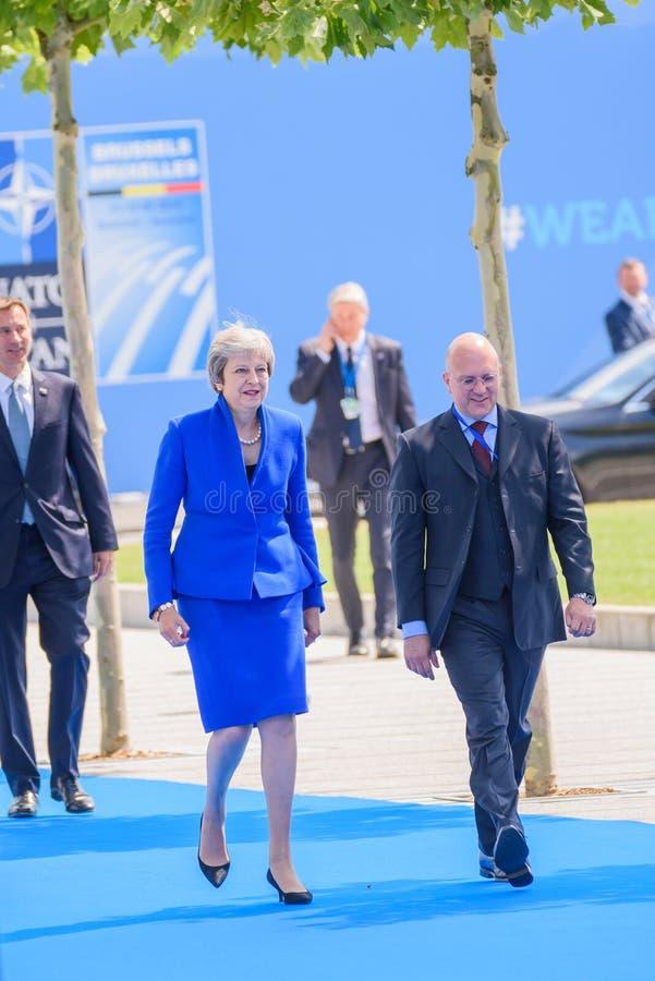 Theresa May, primer ministro de Reino Unido imagenes de archivo