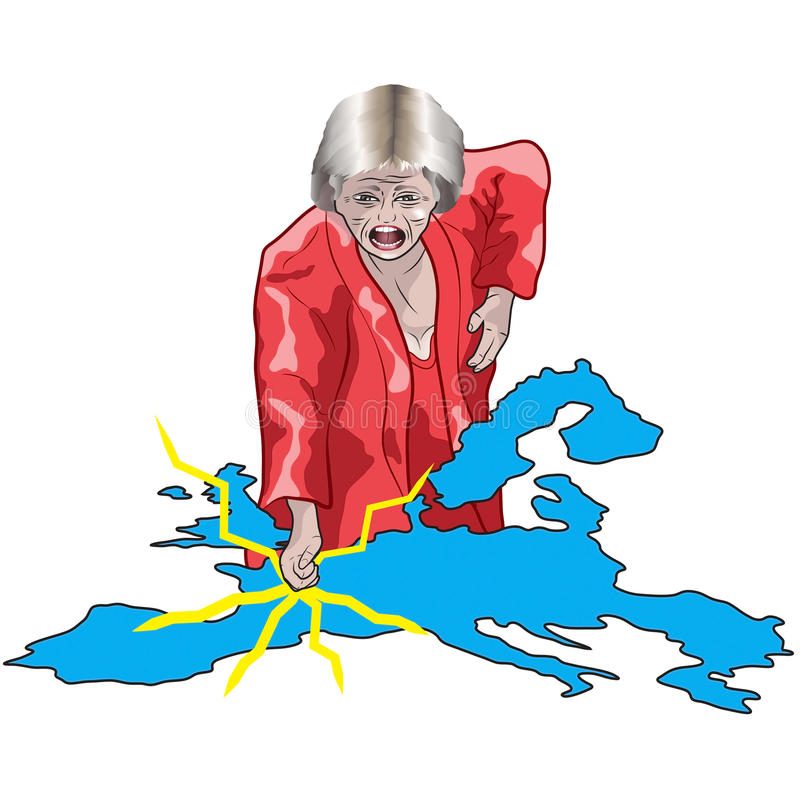Theresa May vuole un Brexit duro illustrazione vettoriale