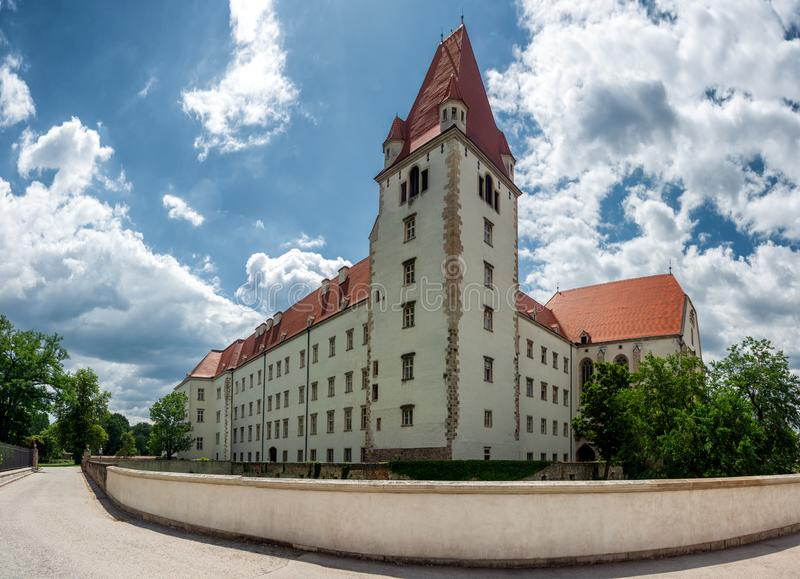 The Theresian Military Academy in Wiener Neustadt. View on the Main building of the Theresian Military Academy in Wiener Neustadt, Austria stock images