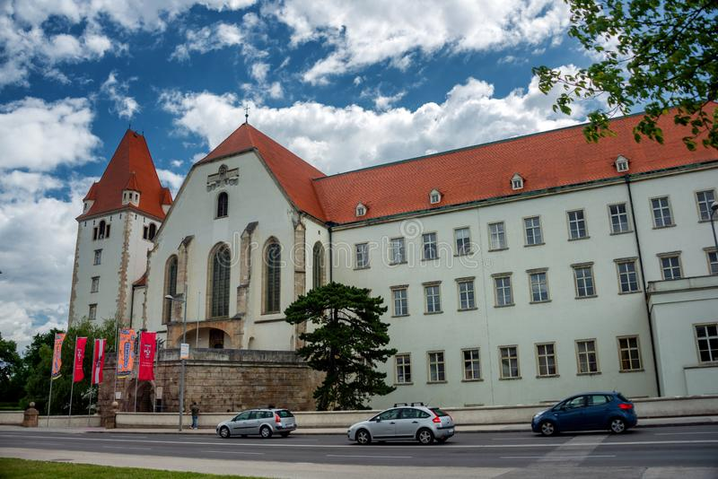 The Theresian Military Academy in Wiener Neustadt. View on the Main building of the Theresian Military Academy in Wiener Neustadt, Austria stock photos