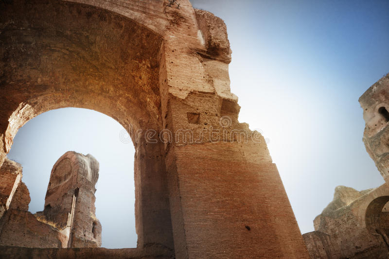 Thermae of Caracalla. Rome, Italy royalty free stock photo