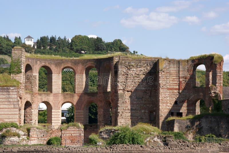 Thermae imperiales en el Trier imagen de archivo