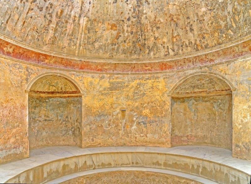 Thermae at Pompeii. Image taken of the thermae, Pompeii (Unesco World Heritage List, 1997), campania, italy, rome royalty free stock photos