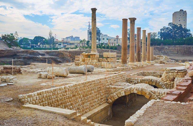Thermae romanos em Alexandria, Egito imagem de stock royalty free