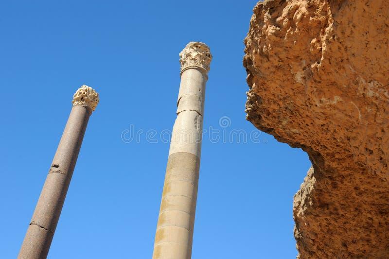 Thermal baths of Antonin at Carthage stock image