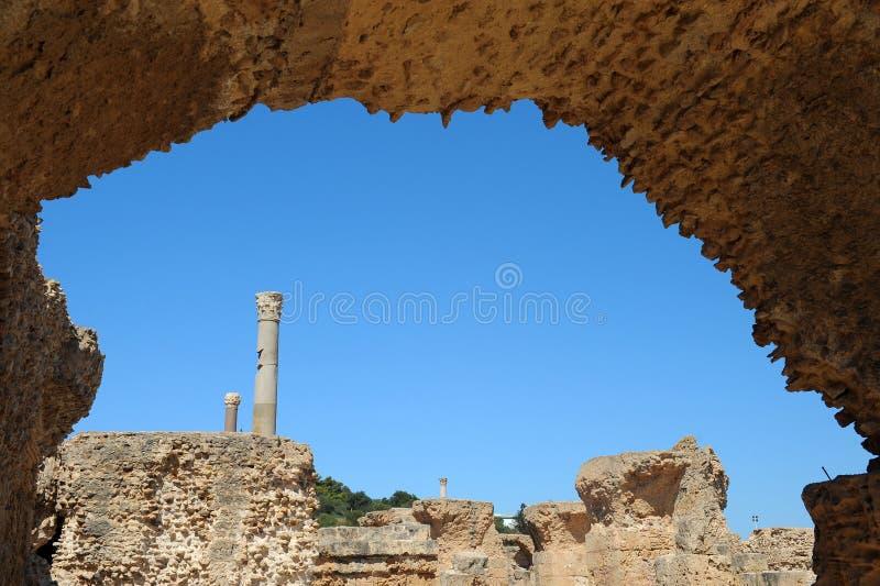 Thermal baths of Antonin at Carthage royalty free stock photo