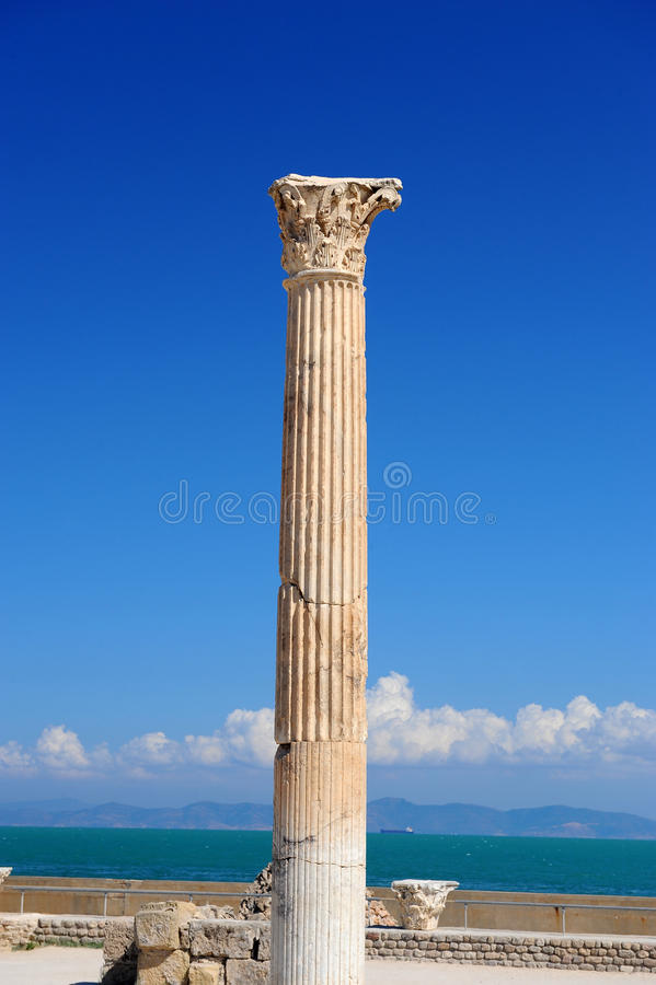 Thermal baths of Antonin at Carthage stock photo