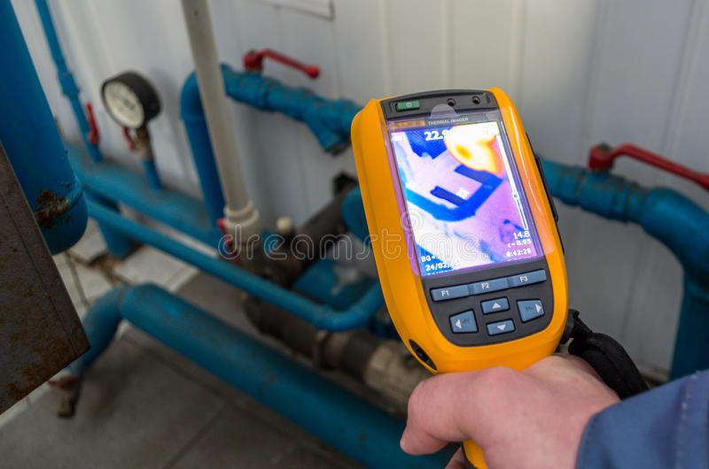 Thermal imaging inspection camera royalty free stock image