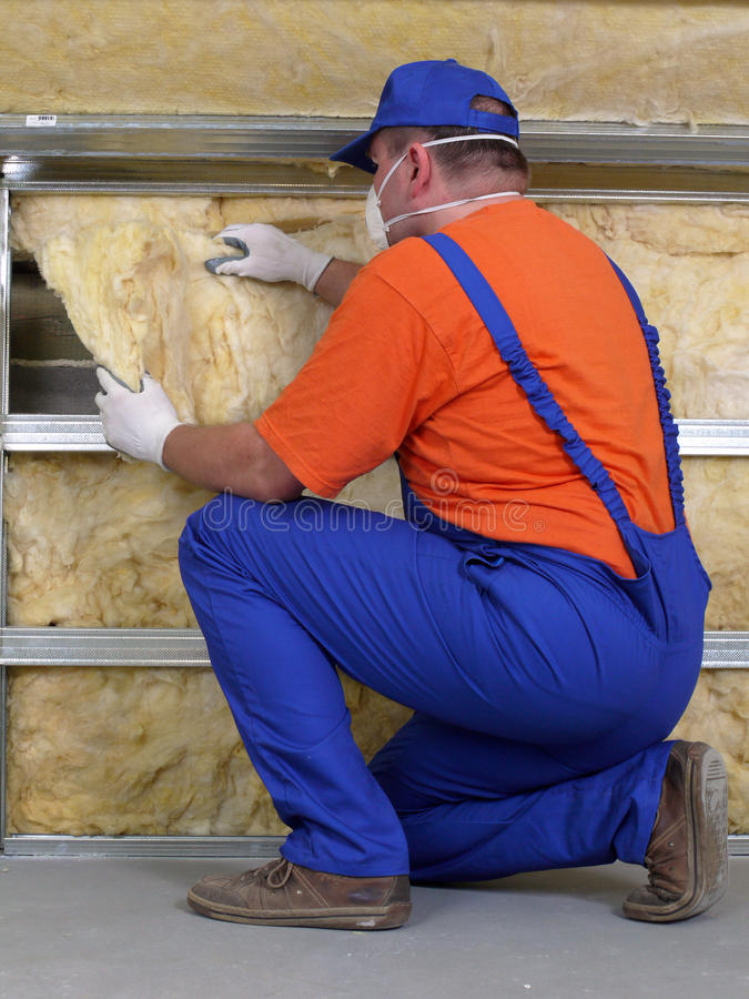 Download Thermal insulation work stock image. Image of insulation - 23121535