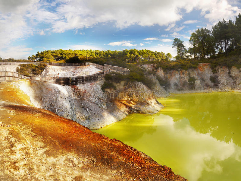 Thermal Lake, Rotorua, New Zealand stock photos