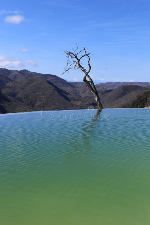 Thermal Mineral Spring Hierve el Agua royalty free stock photo