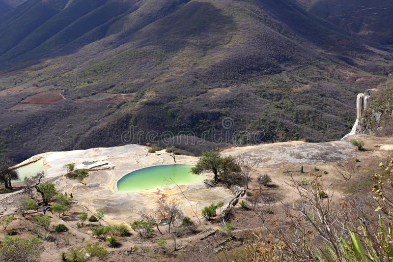 Thermal Mineral Spring Hierve el Agua royalty free stock image