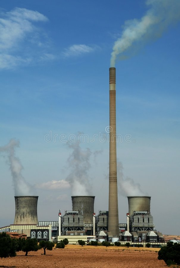 Thermal Nuclear factory royalty free stock image