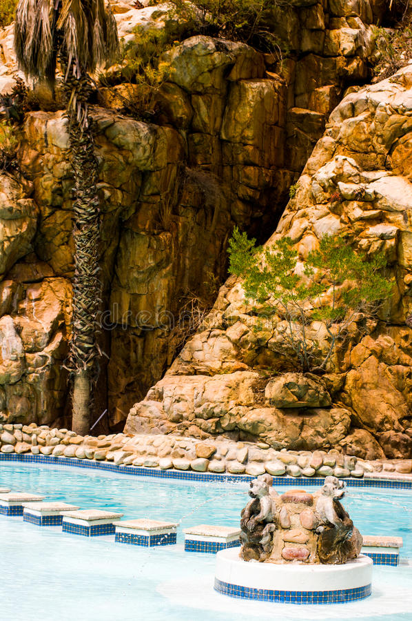 Thermal Pool, Montagu, South Africa. Detail of a swimming pool in thermal pool in south africa royalty free stock photos