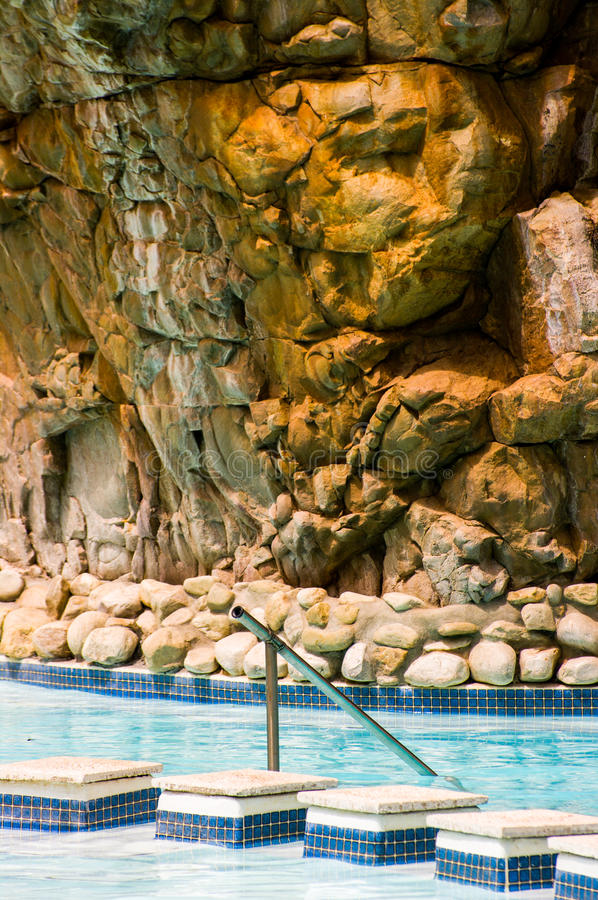 Thermal Pool, Montagu, South Africa. Detail of a swimming pool in thermal pool in south africa stock photo