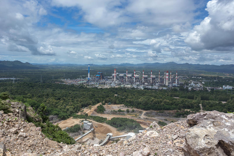 Thermal power plant. Mae Moh coal power plant in Lampang Thailand. stock photos