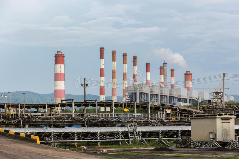 Thermal power plant in thailand stock photos