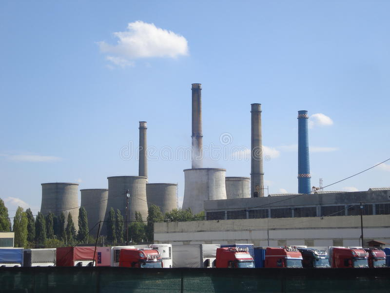 Thermal power station royalty free stock image