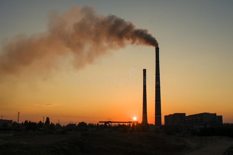 Thermal Power Station of Ukraine. One of the most powerful in Uk stock photos