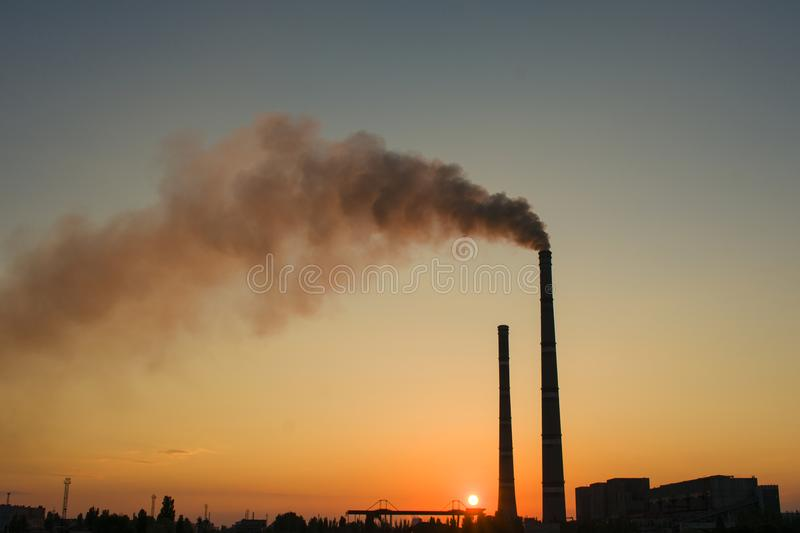 Thermal Power Station of Ukraine. One of the most powerful in Uk. Raine. Electricity production royalty free stock image