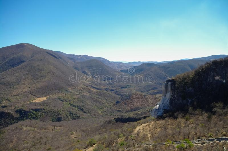 Thermal springs Hierve El Agua in Oaxaca is one of the most beau royalty free stock image