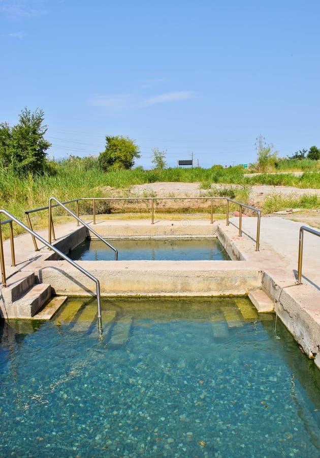 Thermal springs of Kamena Vourla. royalty free stock photo
