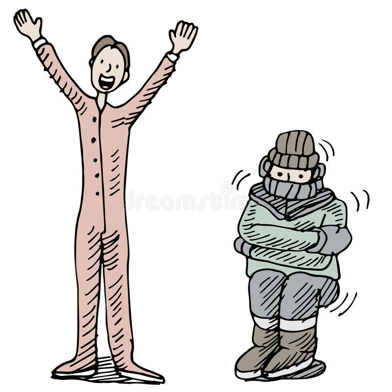 Thermal Underwear. An image of a man kept warm wearing thermal underwear vector illustration