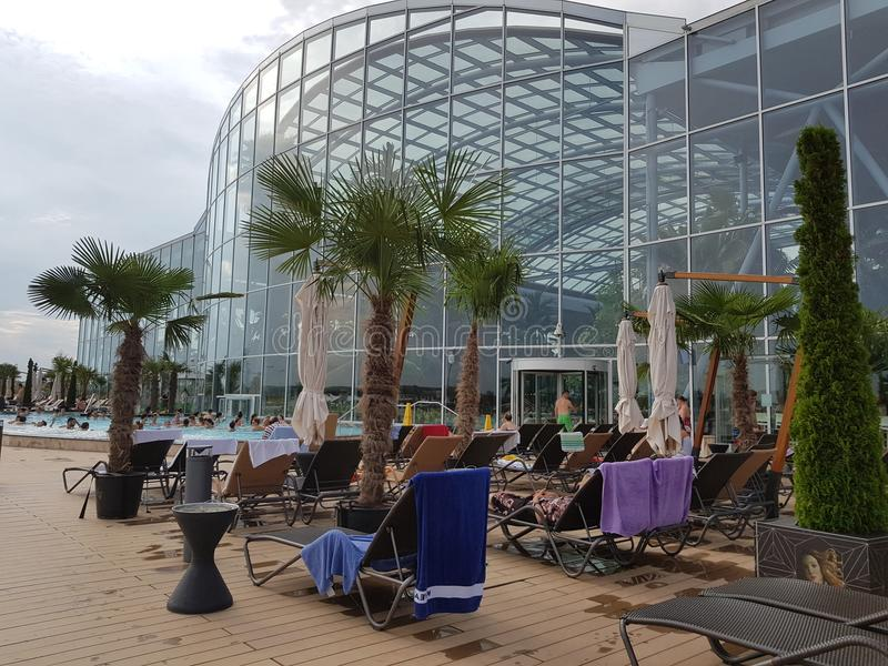 Therme in Bucharest stock image