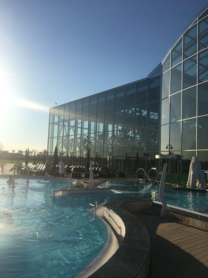 Therme bucharest pool stock photos
