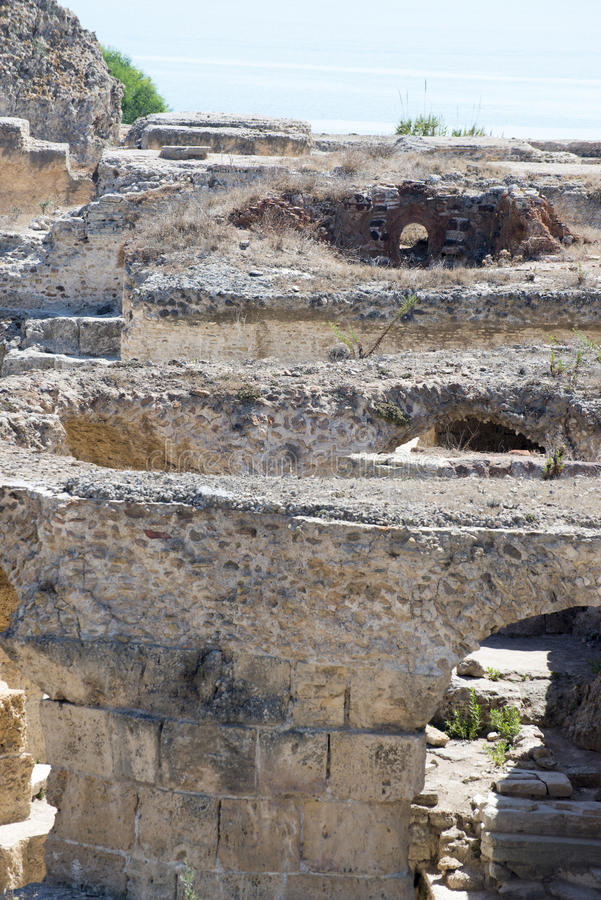 Thermes of Antoninus Pius at Carthage stock images