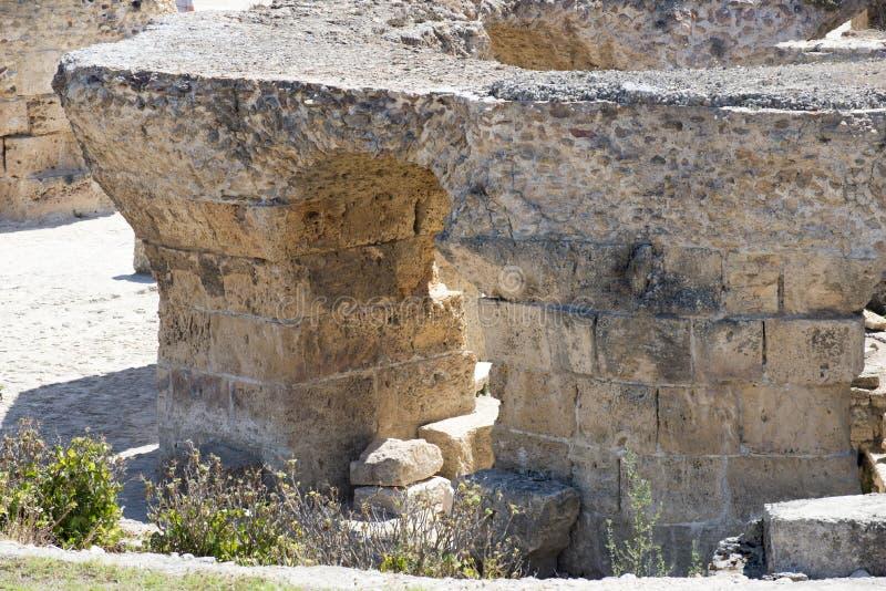 Thermes of Antoninus Pius at Carthage royalty free stock photos