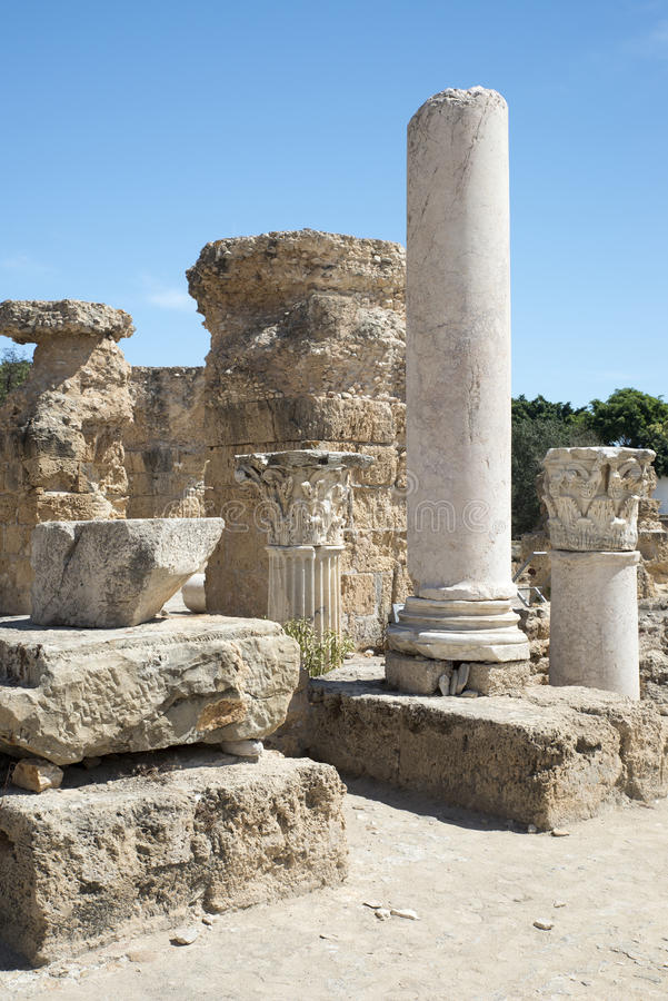 Thermes of Antoninus Pius at Carthage royalty free stock photo