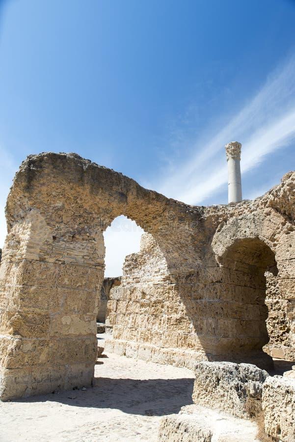 Thermes of Antoninus Pius at Carthage stock photos