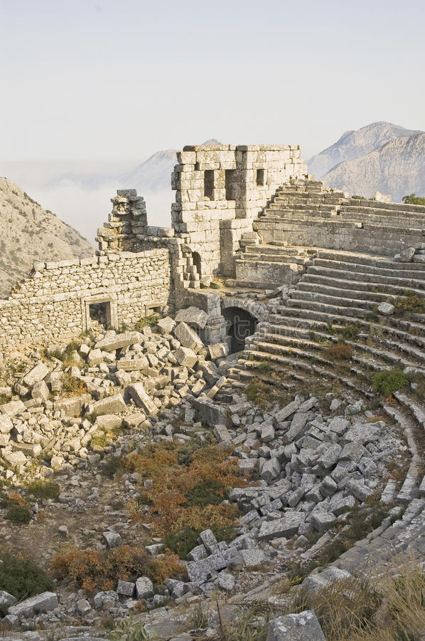 Thermessos archaeological ruins, Turkey stock photo