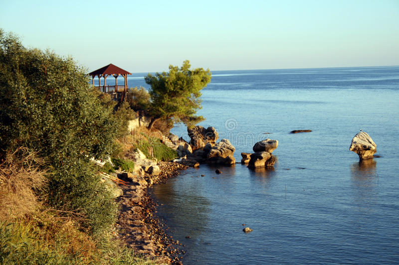 Thermic Bay, Chalkidiki, Greece royalty free stock photography